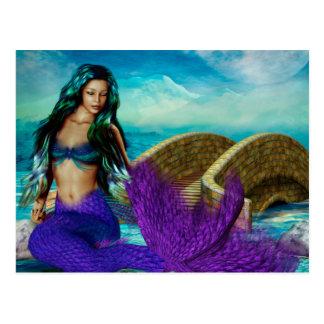 """Mermaid Seasonal Series """"McBeth"""" WINTER Postcard"""