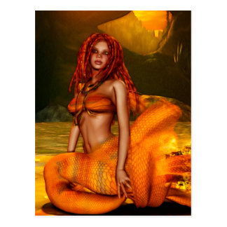 "Mermaid Series ""Coraleen"" Fantasy Art Postcard"
