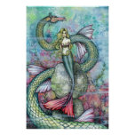 Mermaid Serpent Poster Print by Molly Harrison