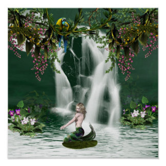 Mermaid Shower Poster