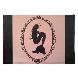 Mermaid Silhouette Cloth Placemat
