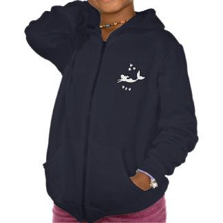 Mermaid Silhouette Girls' Fleece Zip Hoodie