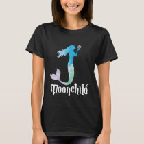Mermaid Silhouette Nautical Summer Beach Moon T-Shirt