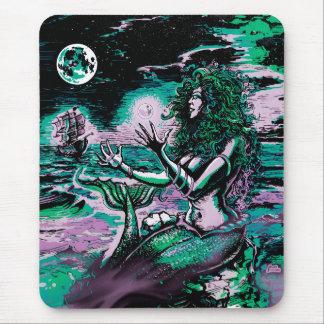 Mermaid Siren Atlantis Pearl Mouse Pad