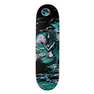 Mermaid Siren Atlantis Pearl Skateboard Deck