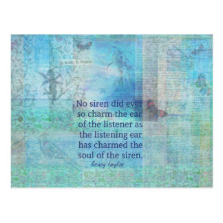 Mermaid Siren whimsical art poem quote Postcard