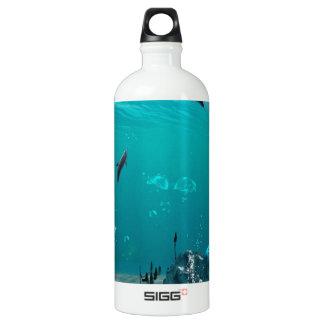 Mermaid sitting on a rock SIGG traveler 1.0L water bottle