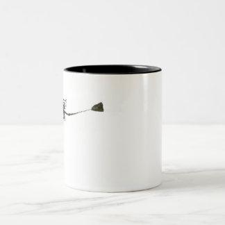 Mermaid Skeleton Two-Tone Coffee Mug