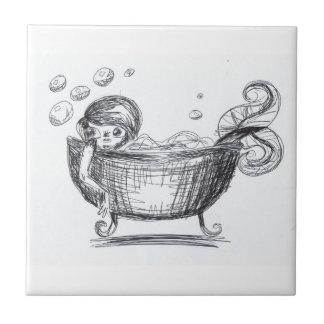 Mermaid Sketch bathroom Tile