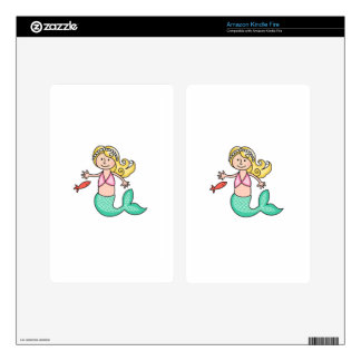 Mermaid Kindle Fire Decals