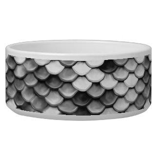 mermaid skin in black and white (pattern) bowl