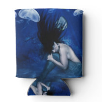 Mermaid Sleeping at the Bottom of the Ocean Can Cooler