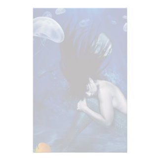Mermaid Sleeping at the Bottom of the Ocean Stationery