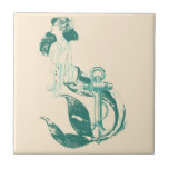 Mermaid Small Square Tile