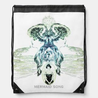 Mermaid Song Sea Green Ocean Blue Love Romance ADD Drawstring Bag
