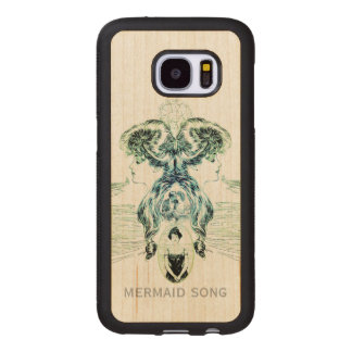 Mermaid Song Sea Green Ocean Blue Love Romance ADD Wood Samsung Galaxy S7 Case