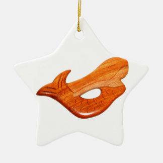 mermaid star Double-Sided star ceramic christmas ornament