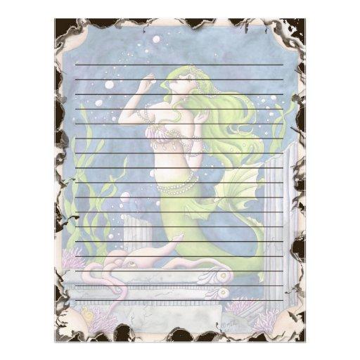 Mermaid Stationary Letterhead