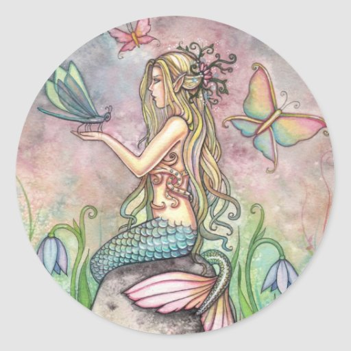 Mermaid Stickers by Molly Harrison