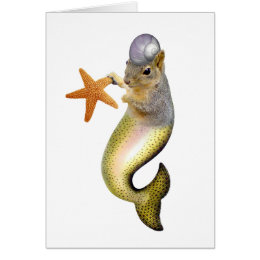 Mermaid Suirrel Card