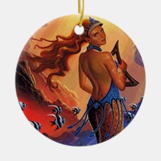 Mermaid Sunset Ceramic Ornament