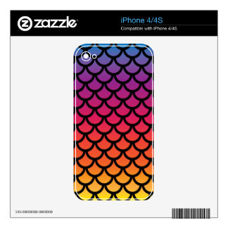 Mermaid Sunset Decals For iPhone 4S