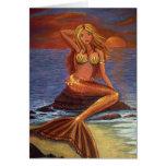 Mermaid Sunset Greeting Card