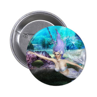 Mermaid Swimming Button