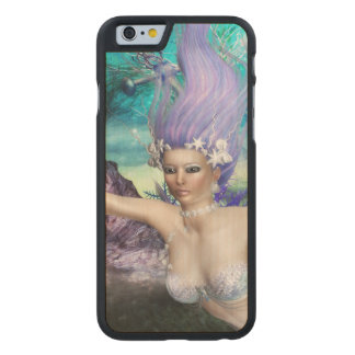Mermaid Swimming Carved Maple iPhone 6 Case