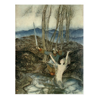 Mermaid & Swordsman Post Card