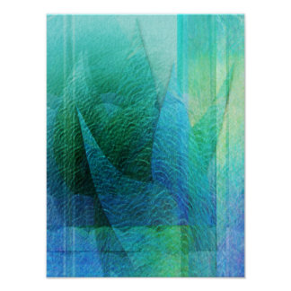 Mermaid Tail Abstract 1 Poster