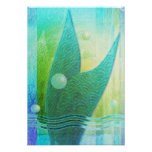 Mermaid Tail Abstract 3 Posters