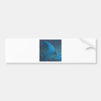 Mermaid Tail blank Car Bumper Sticker