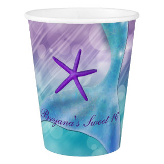 Mermaid Tail Enchanted Under The Sea Party Paper Cup