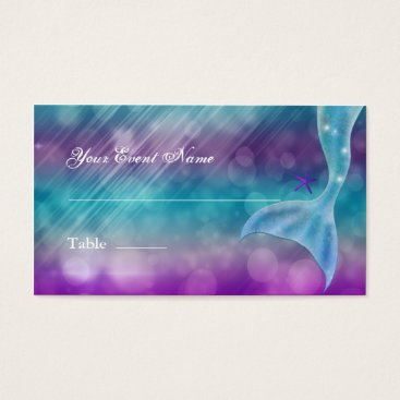 Beach Themed Mermaid Tail Enchanted Under The Sea Table Seating Business Card
