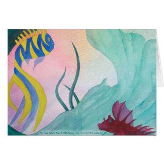 Mermaid Tail & Fish Card