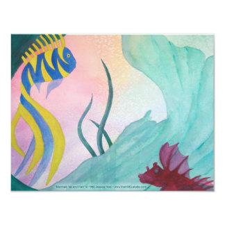Mermaid Tail & Fish Invitation