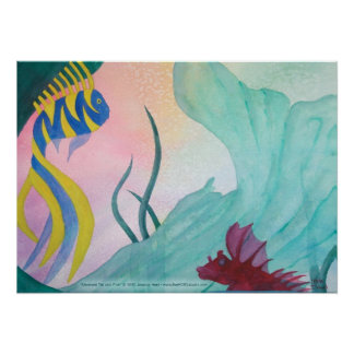 Mermaid Tail & Fish Print
