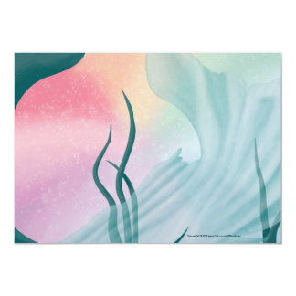 "Mermaid Tail Invitation 5"" X 7"" Invitation Card"