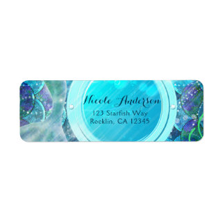 Mermaid Tail Magic Under the Sea Birthday Party Label