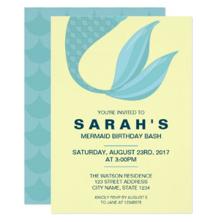 Mermaid Tail | Mermaid Birthday Invitation