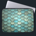 "Mermaid Tail Scales Soft Blue Green Turquoise Laptop Sleeve<br><div class=""desc"">Mermaid Tail Scales Soft Blue Green Turquoise for a whimsical design. Check out our store for matching products!</div>"