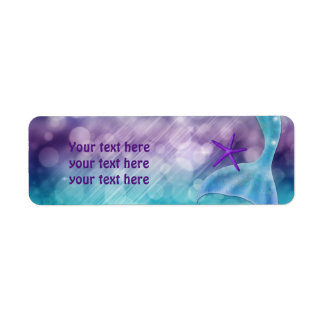 Mermaid Tail Under the Sea Party Address Labels