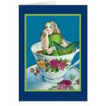 Mermaid Tea I Blank Note Card