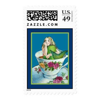 Mermaid Tea I Postage Stamp