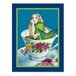 Mermaid Tea Post Card Postcard