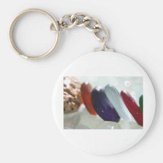 Mermaid Tears Basic Round Button Keychain