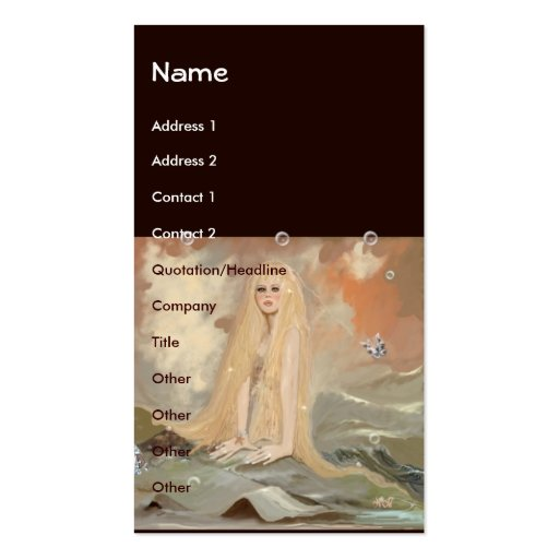 Mermaid Template Double-Sided Standard Business Cards (Pack Of 100)