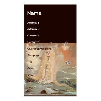 Mermaid Template Business Card Templates