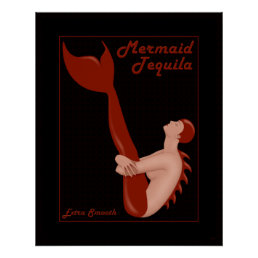 Mermaid Tequila Poster